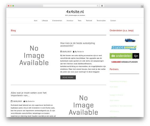 Modern Magazine newspaper WordPress theme - 4x4site.nl