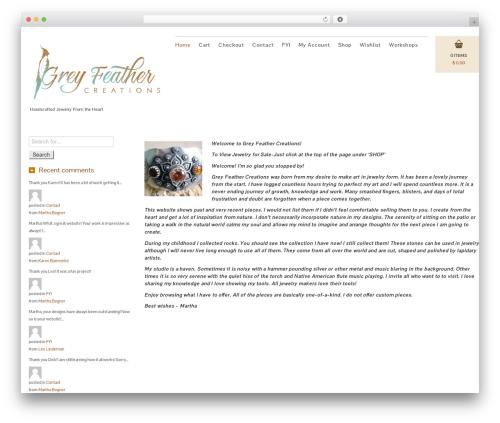 Template WordPress Jewelry Shop - greyfeathercreations.com