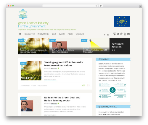 The Frog premium WordPress theme - greenlifeproject.eu