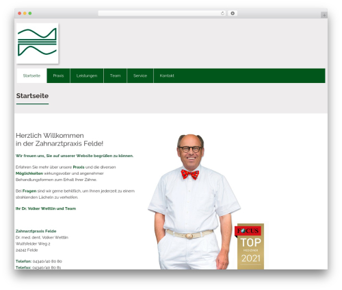 WordPress template Attorney - zahnarzt-felde.de
