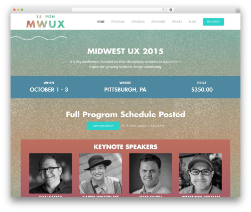 WordPress theme CONFERENCE-WP - 2015.midwestuxconference.com