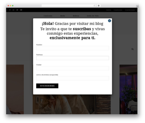 WordPress website template glossy - stephycarrillom.com