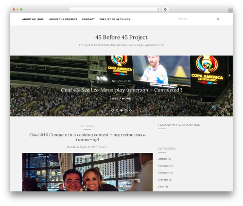 Activello WordPress theme free download - 45before45project.com