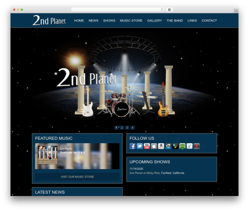 Catalyst best WordPress magazine theme - 2ndplanet.net