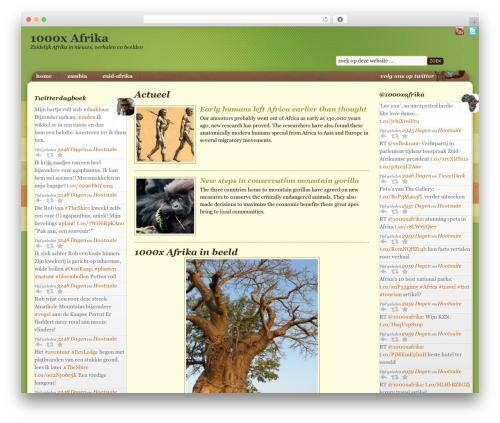 Going Green Child Theme WordPress template - 1000xafrika.nl