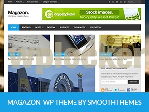 Magazon (Share on Theme123.Net) best WordPress magazine theme