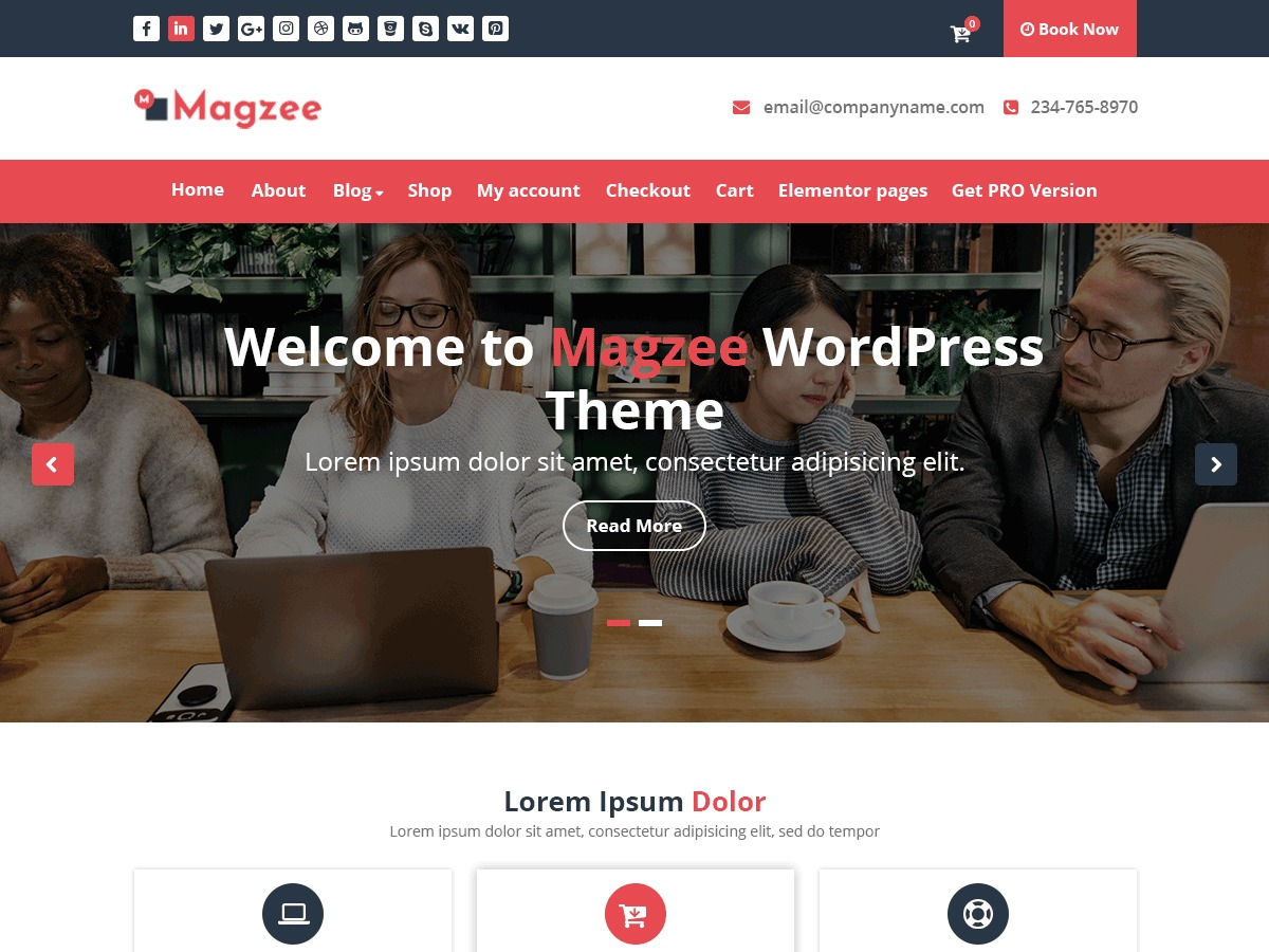 MagZee WordPress portfolio template