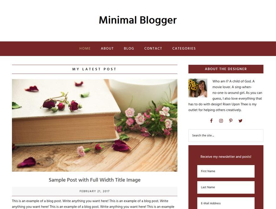 Minimal Blogger WordPress blog template