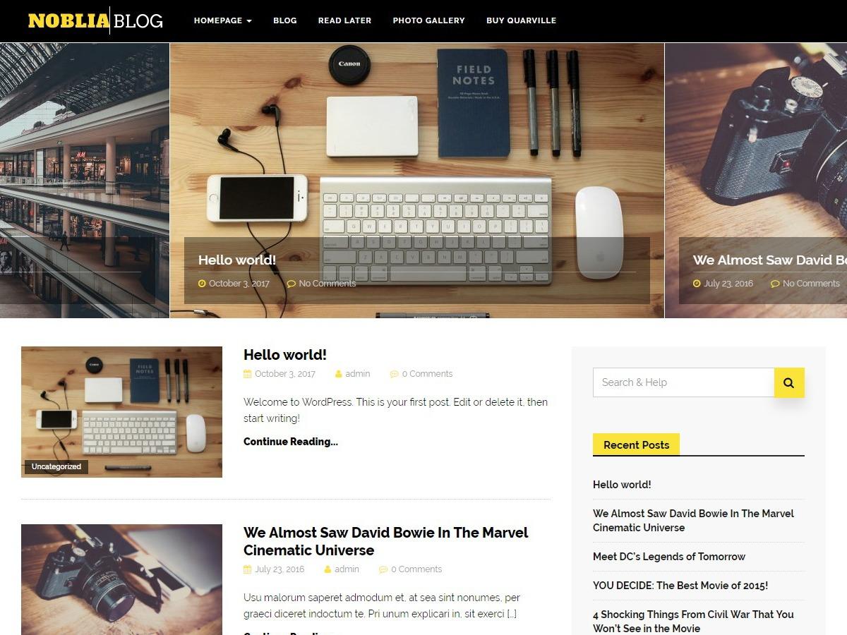 Noblia WordPress travel theme