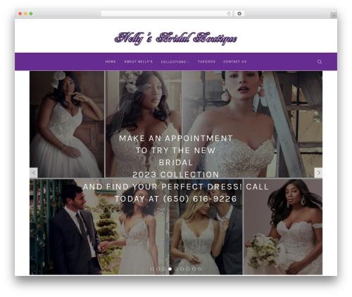 Primrose best wedding WordPress theme - nellysbridal.com