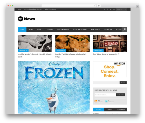 Template WordPress Magazon (Share on Theme123.Net) - 904news.com