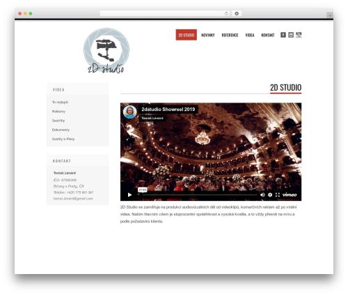 Tesla WordPress template free - 2dstudio.cz