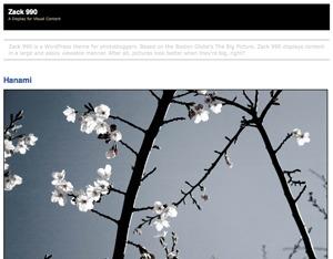 Zack 990 WordPress blog theme