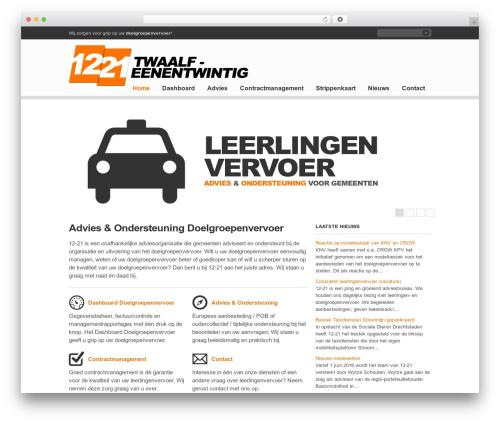 Clearly Modern WordPress theme - 12-21.nl