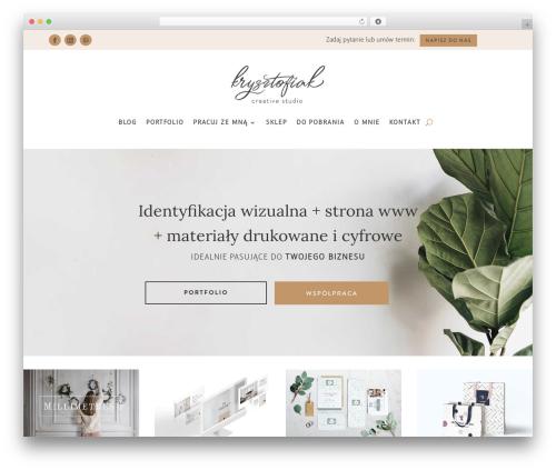 Divi theme WordPress - zyj-kochaj-tworz.pl