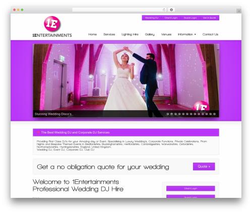 Striking MultiFlex & Ecommerce Responsive WordPress Theme best wedding WordPress theme - 1entertainments.com