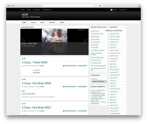 Theme WordPress Techified - 2guys1brain.com