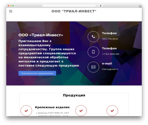 Theme WordPress Themify Simple - 12820.ru