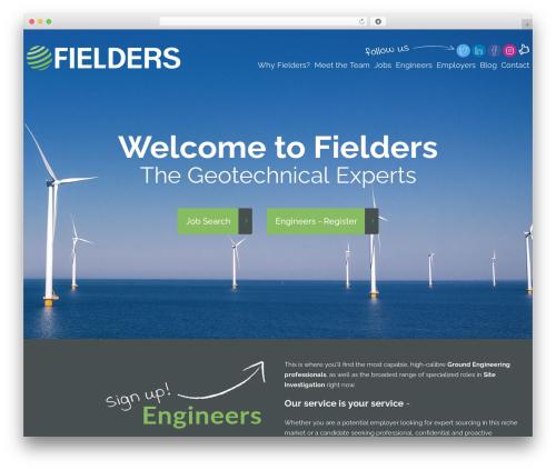 WordPress template cherry - fieldergeotechnics.com
