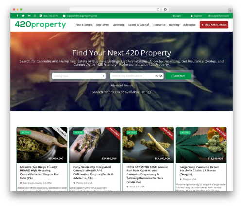WordPress theme Pointfinder - 420property.com