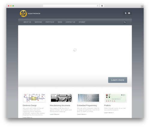 WordPress website template Awake - gpdelectronics.com