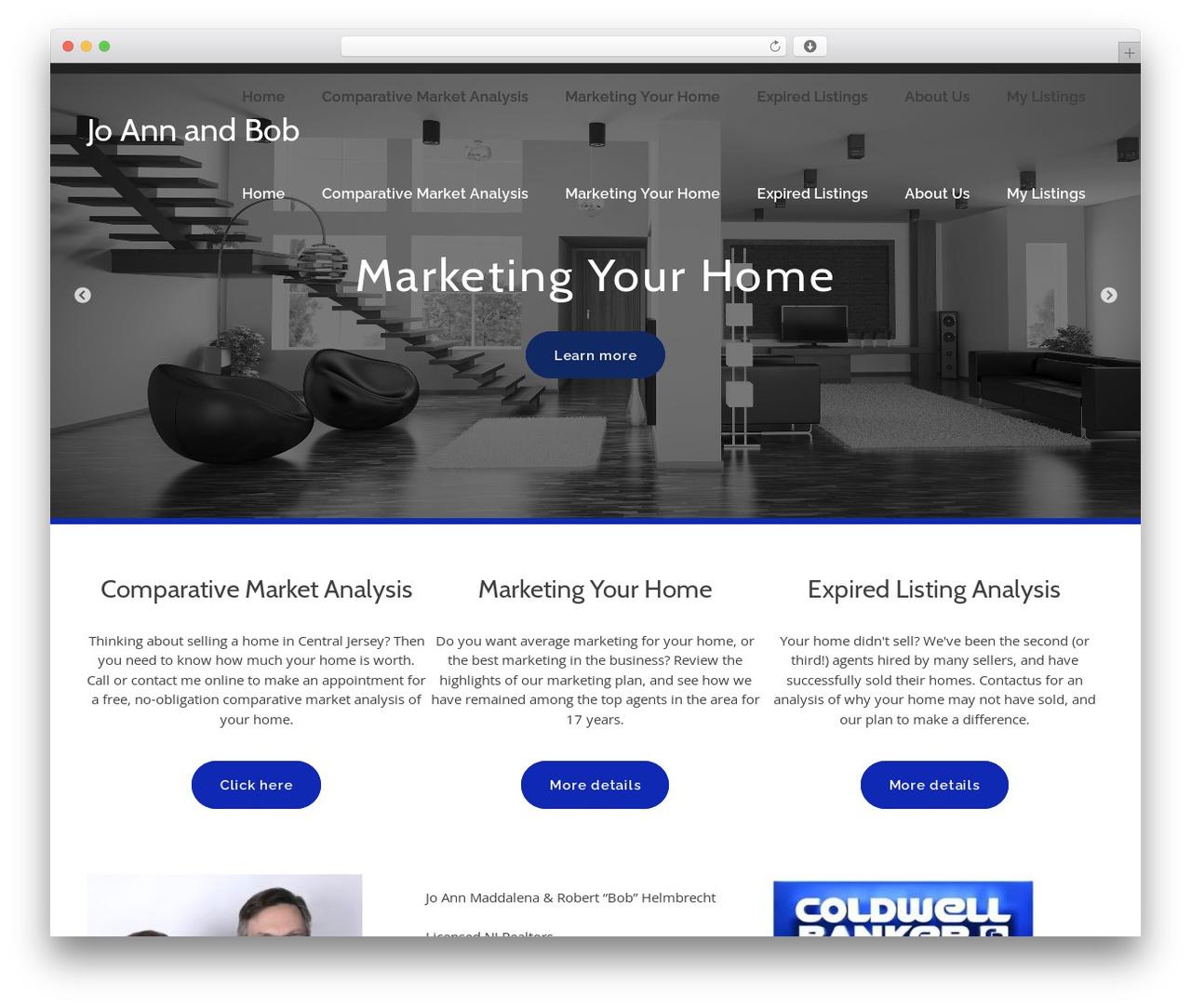bizzy WordPress website template - joannmaddalena.com