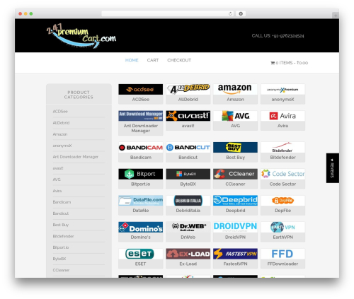 Envy template WordPress - 247premiumcart.com