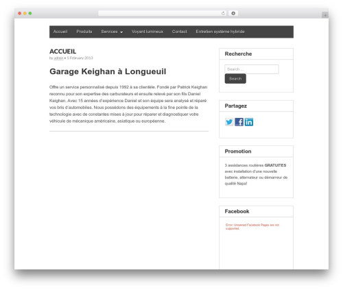 Gridiculous best free WordPress theme - garagekeighan.ca