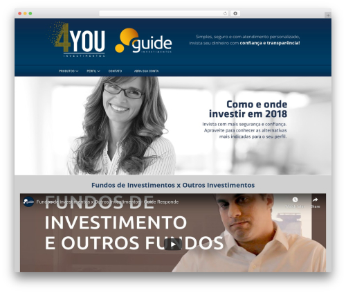Innovation Lite WordPress website template - 4youinvest.com.br