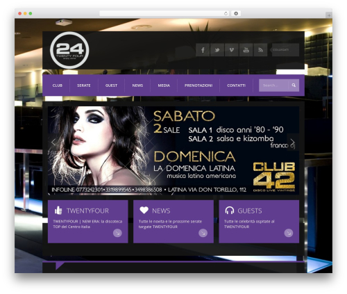 K-BOOM WordPress theme - 24disco.it