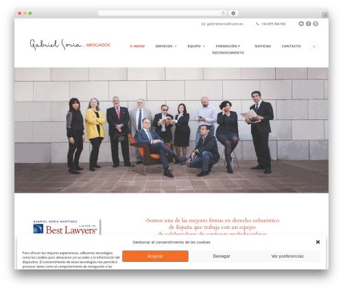 Lawyer Base theme WordPress - gabrielsoriaabogados.com