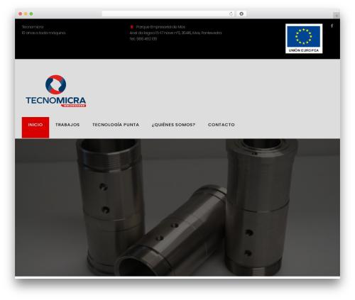 Machinist WordPress theme design - tecnomicra.com