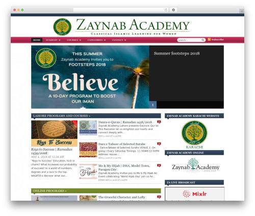 Zenko Magazine newspaper WordPress theme - zaynabacademy.org