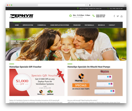 Best WordPress template BestBuild - zephyrair.co.nz