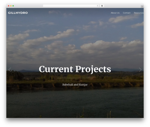 Inspiro WordPress theme - gillhydro.com