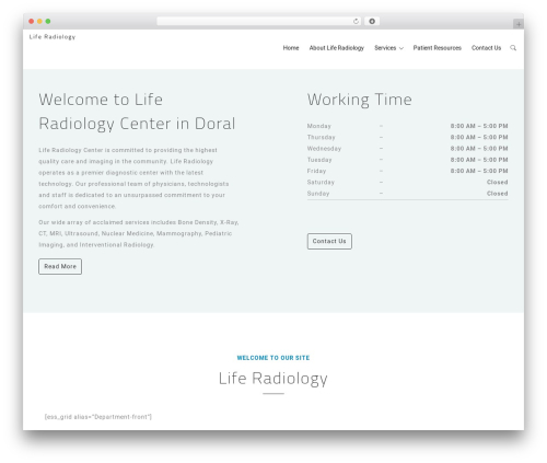 MedCare WordPress theme - liferadiology.com