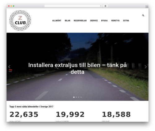 WordPress website template Insight - zclub.nu
