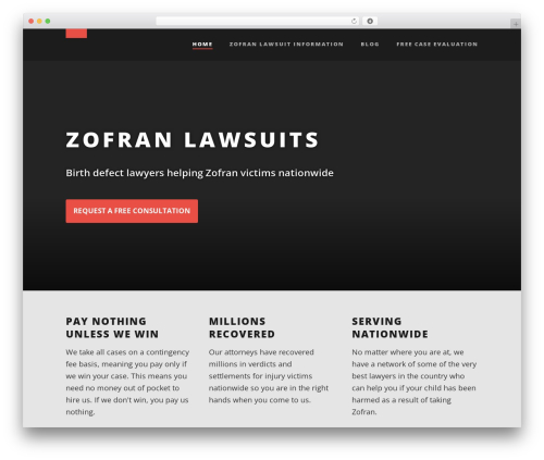Best WordPress theme Suite - zofranlawsuitlawyer.net