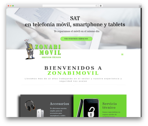 Betheme best WordPress template - zonabimovil.com