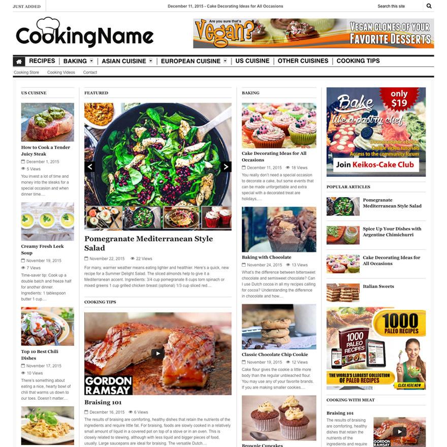 Fivestarblogs main theme WordPress blog theme
