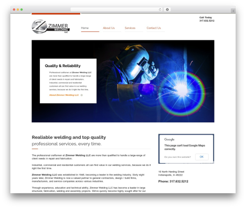Industrial WordPress template for business - zimmerwelding.com