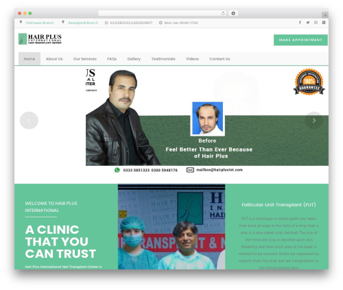 InMedical best WordPress template - hairplusint.com