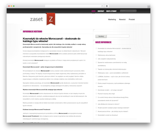 Theme WordPress Delicate News - zaset.pl