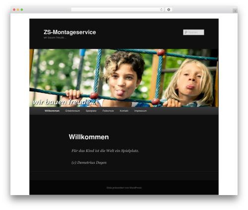 Twenty Eleven free WP theme - zs-montageservice.de