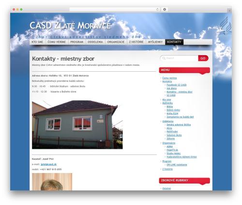 WordPress template Mystique - Oblak - zlatemoravce.casd.sk
