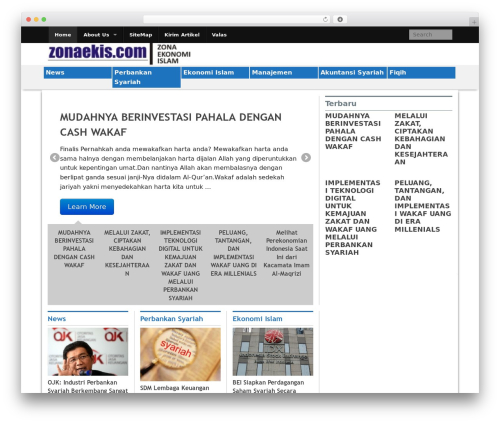 WordPress template Xin Magazine - zonaekis.com