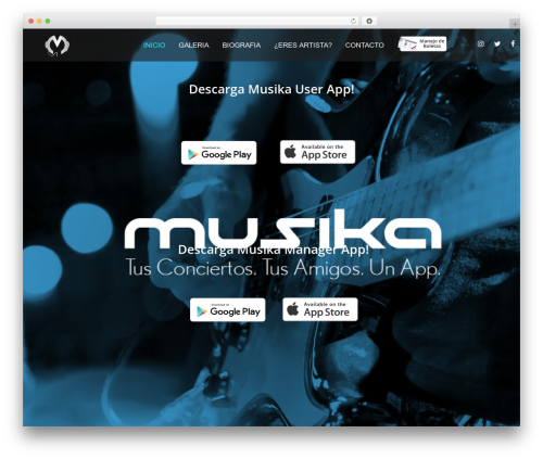 WordPress theme FWRD - musikaapp.com