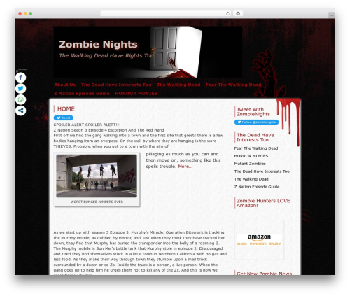 Zombie Apocalypse free WordPress theme - zombienights.com
