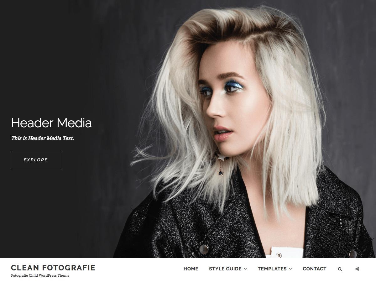 Clean Fotografie WordPress blog theme