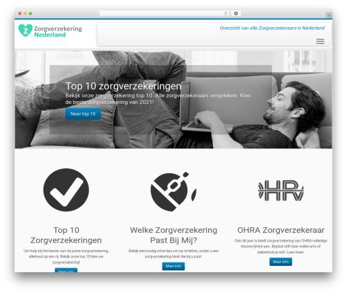 Customizr theme WordPress - zorgverzekering-nederland.nl